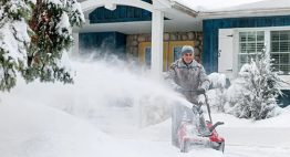 Snow Blower Adding Fuel Stabilizer